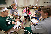 Ohio University students take advantage of the school's free supplemental instruction program  that offers a more intimate educational tutoring environment.  Photo by Ohio University / Jonathan Adams