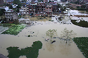LIUZHOU, Nov. 13, 2015 (Xinhua) -- <br /> <br /> Farmlands are submerged in Daoxian County of Yongzhou City, central China's Hunan Province, Nov. 13, 2015. The water level of  Xiaoshui River in Daoxian County spiked due to torrential rainfall in the past days, flooding farmlands and affected residents' life.<br /> ©Exclusivepix Media