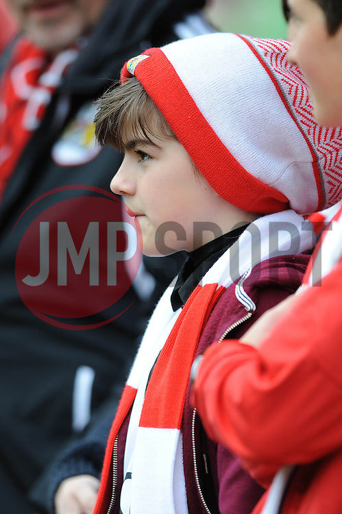Bristol City fan - Photo mandatory by-line: Dougie Allward/JMP - Mobile: 07966 386802 - 03/05/2015 - SPORT - Football - Bristol - Ashton Gate - Bristol City v Walsall - Sky Bet League One