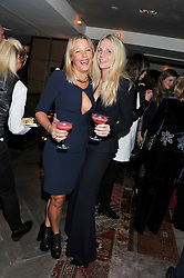 Left to right, DAVINA HARBORD and MADDIE CHESTERTON at the Beulah AW13 Showcase, Bungalow 8 LFW Pop-Up at Belgraves - A Thompson Hotel, 20 Chesham Place, London SW1 on 13th February 2013.