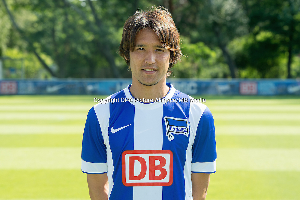 German Soccer Bundesliga - Photocall Hertha BSC Berlin on July 11 2014 in Berlin, Germany: Hajime Hosogai.