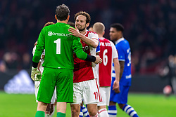 13-03-2019 NED: Ajax - PEC Zwolle, Amsterdam<br /> Ajax has booked an oppressive victory over PEC Zwolle without entertaining the public 2-1 / Daley Blind #17 of Ajax, Diederik Boer #1 of PEC Zwolle