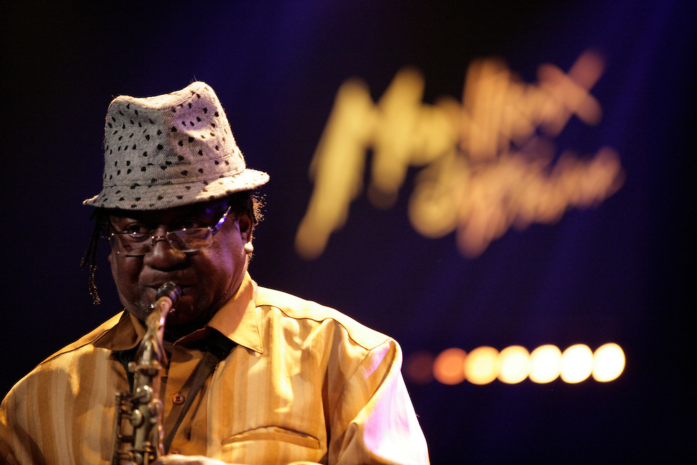 The Skatalites - Lester Sterling performing at the 45th Montreux Jazz Festival, Switzerland.