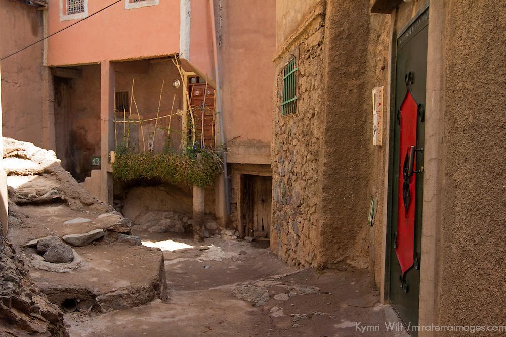 Africa, Morocco, Imlil. Berber village of Imlil, Atlas Mountains.