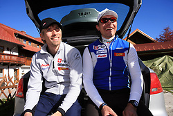 Nejc Brodar and coach Ivan Hudac at practice of Slovenian Cross country National team before new season 2008/2009, on October 22, 2008, Dachstein, Ramsau, Austria. (Photo by Vid Ponikvar / Sportida).