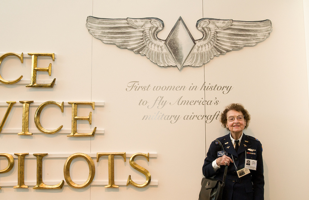 ARLINGTON, Va., (March 9, 2010) -- At a reception in the Women's Memorial by Arlington National Cemetery, Women Airforce Service Pilots (WASP) were the first women to fly military aircraft during World War II.  The reception is a prelude to a March 10 presentation of the Congressional Gold Medal to the 1,102 pilots who served as Women Airforce Service Pilots during World War II.  Nearly 200 of the surviving women pilots attended the ceremonies with family and friends, and family members represented other pilots.  Photo by Johnny Bivera