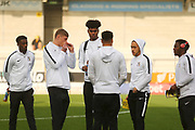Coventry players arrive at the Pirelli Stadium  during the EFL Sky Bet League 1 match between Burton Albion and Coventry City at the Pirelli Stadium, Burton upon Trent, England on 17 November 2018.