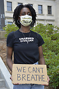"May 29, 2020 Jackson, MS<br /> A small group of protestors for Black Lives Matter and ACAB gathered at the Mississippi State Capitol to protest the brutal murder of George Floyd by white police officers in Minnesota. The protestors did not want to speak to the press and chanted black lives matter, no justice no peace-and justice for George Floyd. A few were wearing masks that said ""I can't breathe"" and one protestor wore a shirt that said ""unarmed civilian and a mask We can't Breathe"". Some of the protestors carried signs with ACAB written on them it stands for All Cops Are Bad or Bastards. Protests broke out across America in defense of George Floyds killing in Minneapolis Minnesota by white police officers and police brutality and white supremacy in America. Photo ©Suzi Altman #racism #blm #georgefloyd #mississippi #minnesota #change #protest #acab #blacklivesmatter #minneapolis #chage #policebrutality #whitesupremacy #unarmedcivilian"
