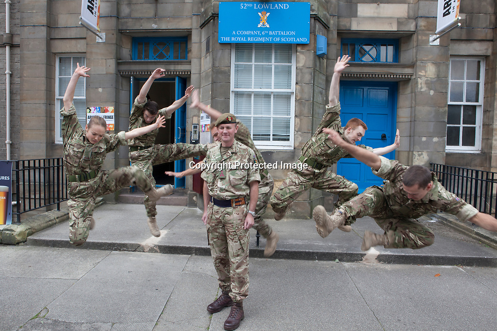 Edinburgh, Scotland 11th August. Head of the Army in Scotland Welcomes Performances for New Fringe Venue. (Venue 210) Brigadier Gary Deakin Welcomed performers to the history Hepburn House for the opening of the Army's first ever Edinburgh Festival Fringe Venue. Edinburgh.  Pictured Brigadier Gary Deakin.<br /> Pako Mera/Alamy Live News
