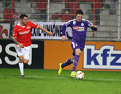 30.01.2016, Stadion An der Alten Foersterei, Berlin, GER, 1. FC Union Berlin vs SV Austria Salzburg, Testspiel, im Bild Laufduell zwischen Christopher Quiring (#2, 1. FC Union Berlin) und Markus Wallner (#2, SV Austria Salzburg) // during a preperation Football Match between 1. FC Union Berlin vs SV Austria Salzburg at the Stadion An der Alten Foersterei in Berlin, Germany on 2016/01/30. EXPA Pictures &copy; 2016, PhotoCredit: EXPA/ Eibner-Pressefoto/ Hundt<br /> <br /> *****ATTENTION - OUT of GER*****