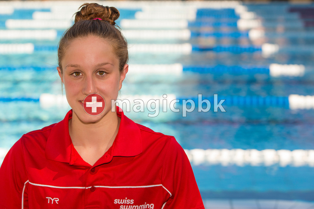 Sara STAUDINGER of Switzerland poses for a portrait photo during the Swiss Swimming Junior and Youth Championships held at the 50m outdoor pool in Schaffhausen, Switzerland, Friday, July 18, 2014. (Photo by Patrick B. Kraemer / MAGICPBK)