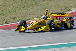 February 12, 2019 - U.S. - AUSTIN, TX - FEBRUARY 12: Helio Castroneves (3) in a Chevrolet powered Dallara IR-12 exits turn 2 during the IndyCar Spring Training held February 11-13, 2019 at Circuit of the Americas in Austin, TX. (Photo by Allan Hamilton/Icon Sportswire) (Credit Image: © Allan Hamilton/Icon SMI via ZUMA Press)