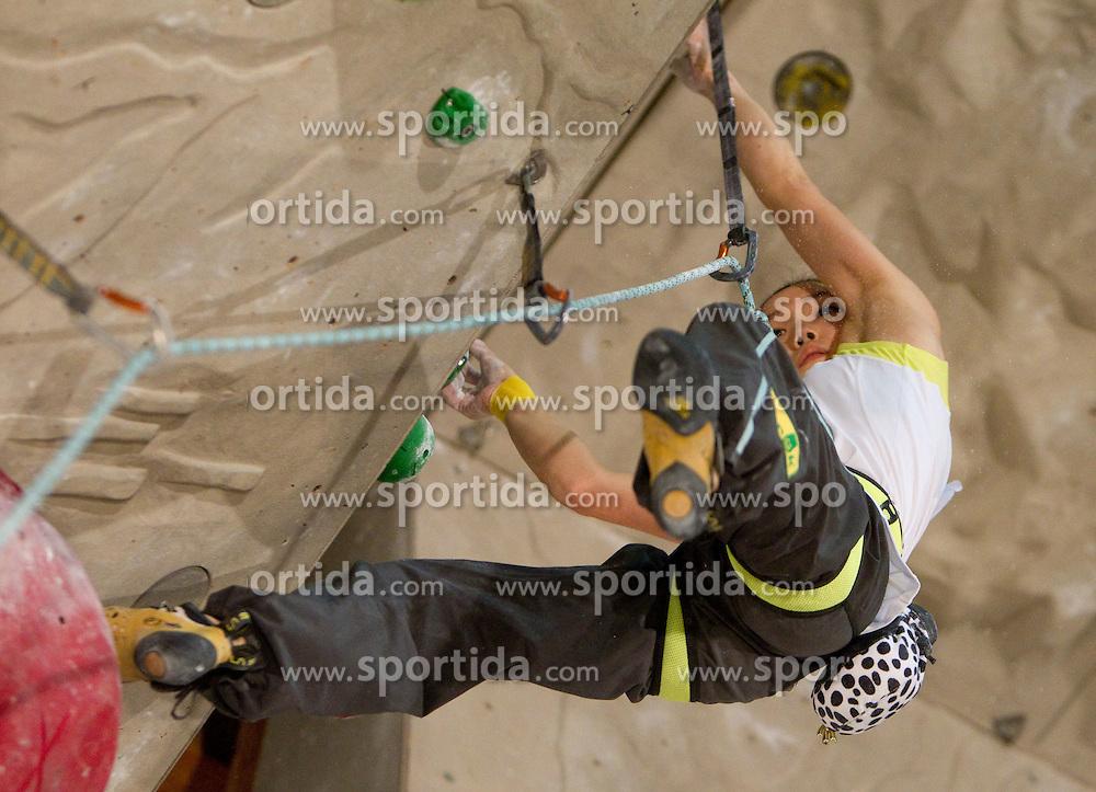 Winner Jain Kim of Korea during Final IFSC World Cup Competition in sport climbing Kranj 2010, on November 14, 2010 in Arena Zlato polje, Kranj, Slovenia. (Photo By Vid Ponikvar / Sportida.com)