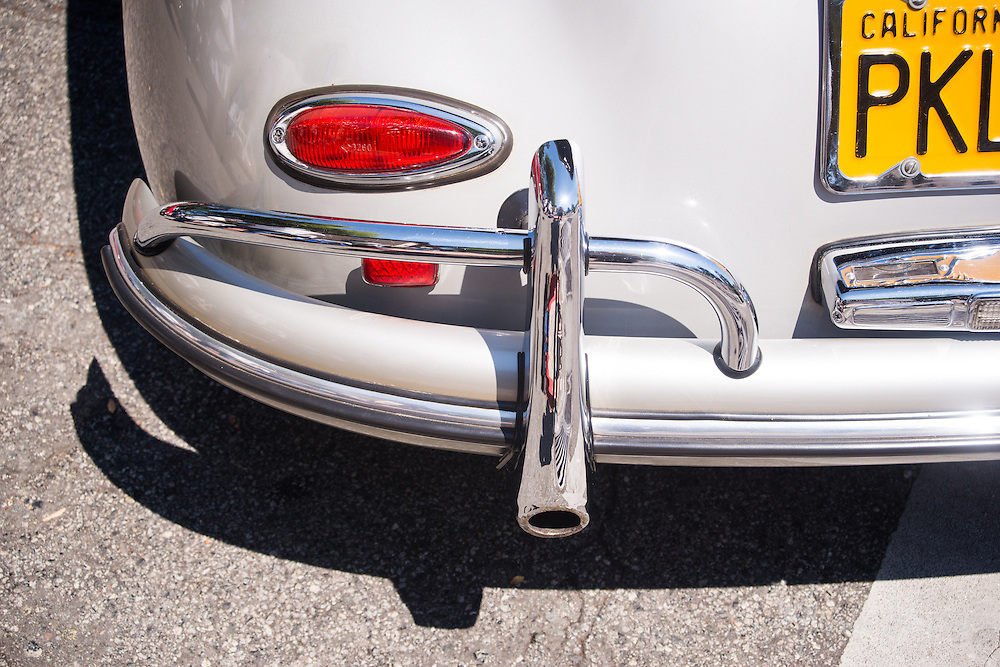 Detail of a classic car at the Carmel Concours, 2014