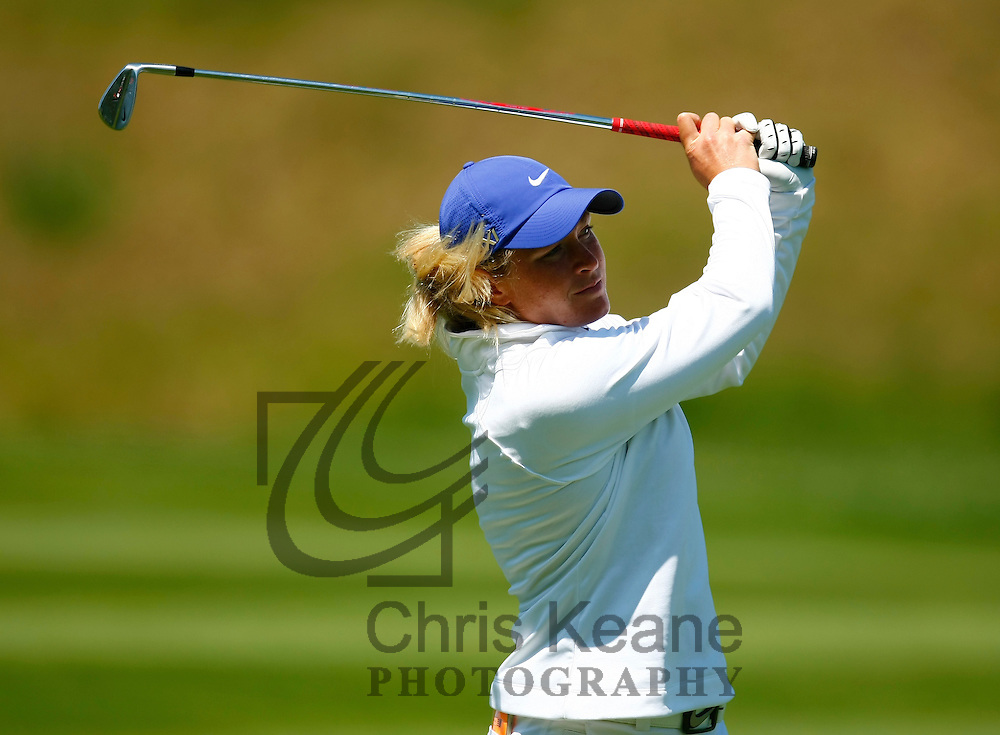 17 May 2012: Suzann Pettersen watches her second shot on the 15th hole during the first round of match play at the Sybase Match Play Championship at Hamilton Farm Golf Club in Gladstone, New Jersey on May 17, 2012.  (Photo by Chris Keane - www.chriskeane.com)