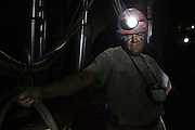 A miner 400 meters under the ground in the coal mine Carbosulcis in Nuraxi Figus village.