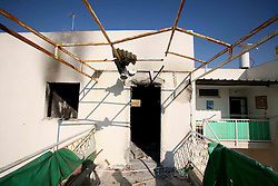 Sderot  - May 2nd,  2008 - A house which has been hit by 3 separate rocket attacks  in the centre of Sderot, Southern Israel, The small town has frequent rocket  attacks from Gaza, May 2nd, 2008. Picture by Andrew Parsons / i-Images