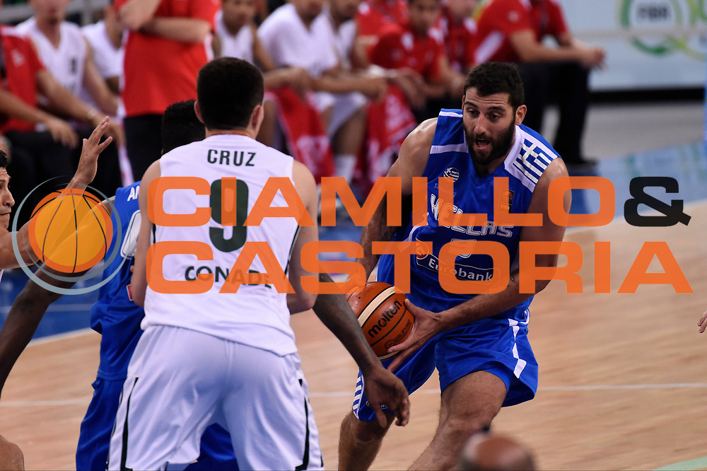 DESCRIZIONE: Torino FIBA Olympic Qualifying Tournament GREECE GRECIA MEXICO MESSICO<br /> GIOCATORE: Bourousis Ioannis<br /> CATEGORIA: Nazionale Italiana Italia Maschile Senior<br /> GARA: FIBA Olympic Qualifying GREECE GRECIA-MEXICO MESSICO<br /> DATA: 06/07/2016<br /> AUTORE: Agenzia Ciamillo-Castoria