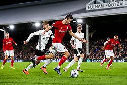 Adam Nagy of Bristol City crosses to provide an assist as Famara Diedhiou of Bristol City scores a goal to make it 0-2 - Rogan/JMP - 07/12/2019 - Craven Cottage - London, England - Fulham v Bristol City - Sky Bet Championship.
