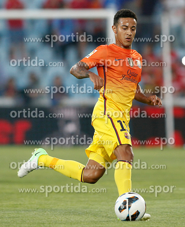 15.09.2012, Coliseum Alfonso Perez, Getafe, ESP, Primera Division, FC Getafe vs FC Barcelona, 04. Runde, im Bild FC Barcelona's Thiago Alcantara // during the Spanish Primera Division 04th round match between Getafe CF and Barcelona FC at the Coliseum Alfonso Perez, Getafe, Spain on 2012/09/15. EXPA Pictures © 2012, PhotoCredit: EXPA/ Alterphotos/ Acero..***** ATTENTION - OUT OF ESP and SUI *****