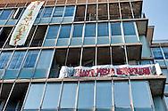 Roma, 6 Dicembre 2012.Occupato un palazzo in viale delle Province.Il palazzo, ex sede INPS, in viale delle Province occupato dai Blocchi Precari Metropolitani per l'emergenza abitativa
