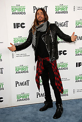 Jared Leto at the 2014 Film Independent Spirit Awards Arrivals, Santa Monica Beach, Santa Monica, United States, Saturday, 1st March 2014. Picture by Hollywood Bubbles / i-Images<br /> UK ONLY