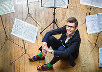 "March 01, 2012: Portrait of the British Choirmaster and broadcaster Gareth Malone in London. Gareth has won two BAFTA awards to date for his show ""The Choir""."