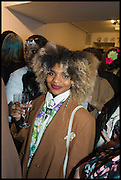 ALLANICA WHITE; ( BEHIND ) DESTINAIRE ADELAKUN, Sorapol Ollin Atelier and Pret a Porter Presentation. Strand Gallery.  32 john Adam St. WC2. London. 20 February 2015