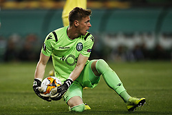 February 14, 2019 - Lisbon, Portugal - Salin of Sporting in action during UEFA Europa League football match between Sporting CP vs Villarreal CF, in Lisbon, on February 14, 2018. (Credit Image: © Carlos Palma/NurPhoto via ZUMA Press)