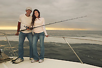 Couple on Sport Fishing Boat