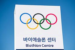 February 5, 2018 - Pyeongchang, SOUTH KOREA - 180205 General view outside of the Alpensia Biathlon Centre ahead of the 2018 Winter Olympics on February 5, 2018 in Pyeongchang..Photo: Jon Olav Nesvold / BILDBYRN / kod JE / 160137 (Credit Image: © Jon Olav Nesvold/Bildbyran via ZUMA Press)