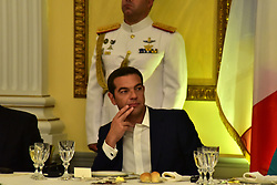 September 7, 2017 - Athens, Attiki, Greece - Greek Prime Minister Alexis Tsipras, during the dinner in honour of the President of the French Republic Emmanuel Macron. (Credit Image: © Dimitrios Karvountzis/Pacific Press via ZUMA Wire)