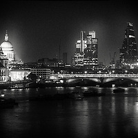 City of London view from waterloo bridge, london, uk