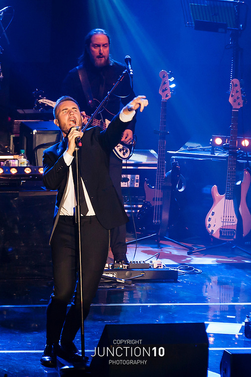 Gary Barlow performs at the Civic Hall, Wolverhampton, United Kingdom.Picture Date: 30 December, 2012