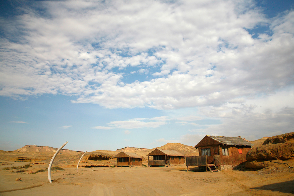 Angola, Namibe Province, Iona National Park. Flamingo lodge Fishing camp in the desert on the Atlantic coast.<br /> <br /> Photo: &copy; Zute &amp; Demelza Lightfoot