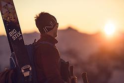 THEMENBILD - Skitourengehen in der Steiermark, Thalerkogel Aufgenommen am 25.02.2018 in Trofaiach, Österreich // Ski touring in the austrian alps. Trofaiach, Austria on 2018/02/25. EXPA Pictures © 2018, PhotoCredit: EXPA/ Dominik Angerer