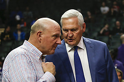 March 15, 2019 - Los Angeles, California, U.S - Steve Ballmer, left, and Gerry West attend in an NBA basketball game between Los Angeles Clippers and Chicago Bulls Friday, March 15, 2019, in Los Angeles. The Clippers won 128-121. (Credit Image: © Ringo Chiu/ZUMA Wire)