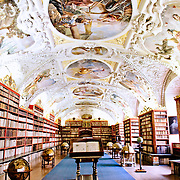 Prague's historic Strahov Library at the Stahov Monastery.