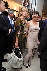 Left to right,  JEMIMA FRENCH and SADIE FROST at a reception hosted by Vogue and Burberry to celebrate the launch of Fashions Night Out - held at Burberry, 21-23 Bond Street, London on 10th September 2009.