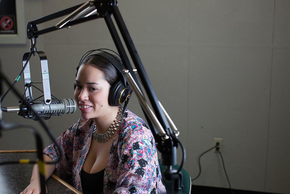 Sasha Estrella-Jones in Studio B. Photo by Kaitlin Owens