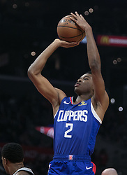 November 15, 2018 - Los Angeles, California, U.S - Shai Gilgeous-Alexander #2 of the Los Angeles Clippers takes a jump shot during their NBA game with the San Antonio Spurs on Thursday November 15, 2018 at the Staples Center in Los Angeles, California. Clippers defeat Spurs, 116-111. (Credit Image: © Prensa Internacional via ZUMA Wire)