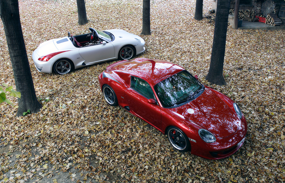 Porsche Boxter & Cayman customized by Studio Torino and tuned by RUF.
