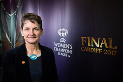 CARDIFF, ENGLAND - Tuesday, February 21, 2017: Laura McAllister CBE in Cardiff Library to promote the men's and women's UEFA Champions League Finals being staged in Cardiff this June. (Pic by Paul Greenwood/Propaganda)