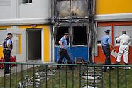 Arson attack refugee camp, Berlin