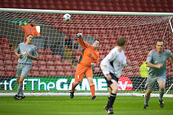 LIVERPOOL, ENGLAND - Thursday, May 14, 2009: Radio Merseyside's Gary Flintoff during a match before the Hillsborough Memorial Charity Game at Anfield. (Photo by David Rawcliffe/Propaganda)
