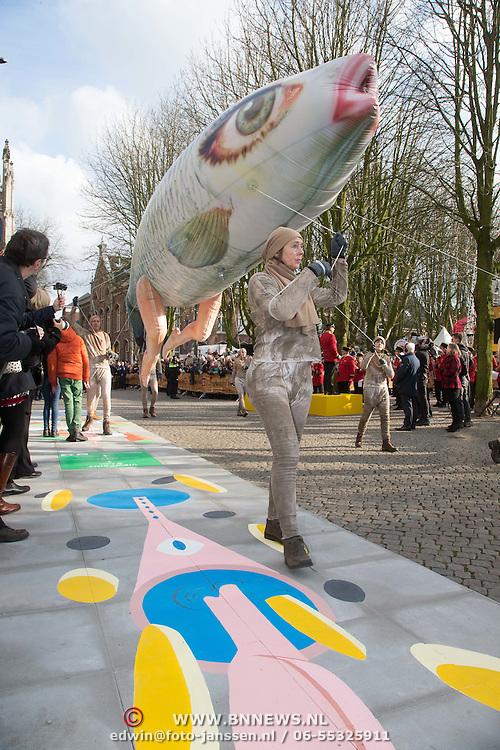 NLD/den Bosch/20160212 - Koning Willem Alexander opent de tentoonstelling Jheronimus Bosch in het in Het Noordbrabants Museum, kunst