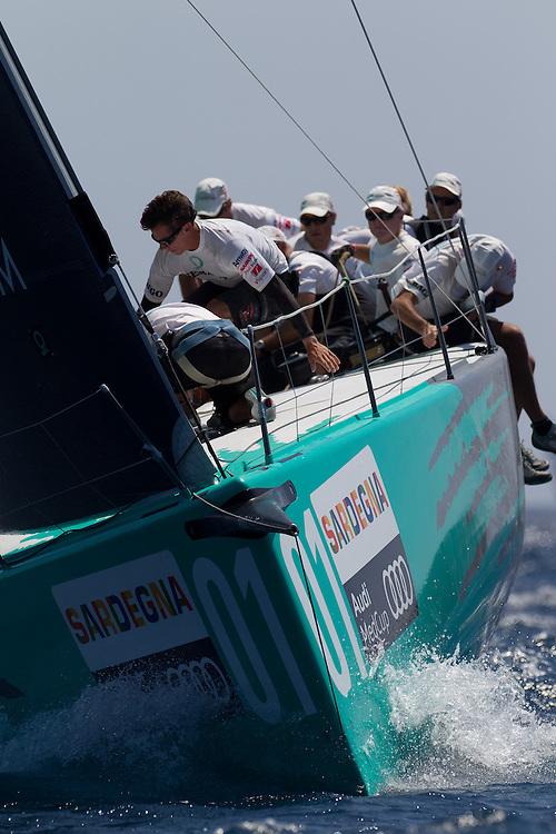 ITALY, Sardinia, Cagliari. 23rd July 2011. AUDI MedCup, Region of Sardinia Trophy. TP52 Coastal Race.  TP52, Quantum Racing.