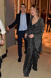 WILL HEARD and JAZZY DE LISSER at a Dinner to celebrate the launch of the Mulberry Cara Delevingne Collection held at Claridge's, Brook Street, London on 16th February 2014.