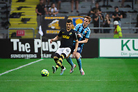 2019-09-01 | Solna, Sweden: AIKs (20) Tarik Elyounoussi and Djurgårdens IF (16) Aslak Fonn Witry during the game between AIK and Djurgårdens IF at Friends Arena ( Photo by: Simon Holmgren | Swe Press Photo )<br /> <br /> Keywords: Friends Arena, Solna, Soccer, Allsvenskan, AIK, Djurgårdens IF