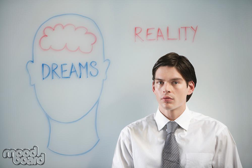 Daydreaming Businessman